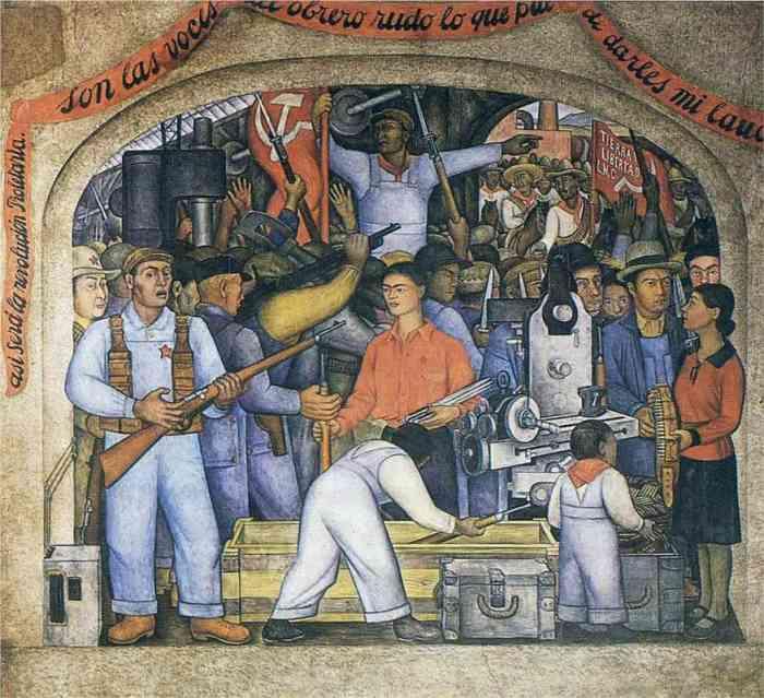 Quienes Aparecen En El Mural Historia 5 Grado