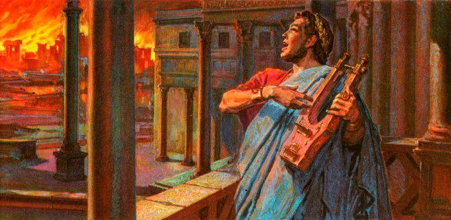 Resultado de imagen de neon incendio de roma