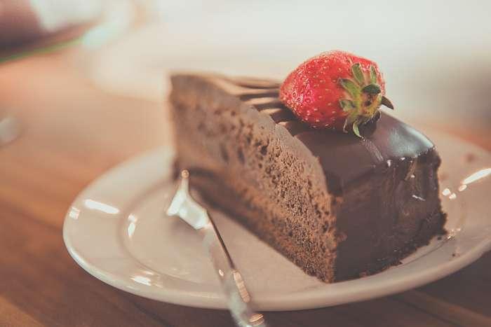 Tarta con alto contenido en azúcar y grasa