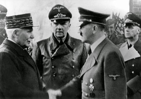 Hitler y Philippe Petain