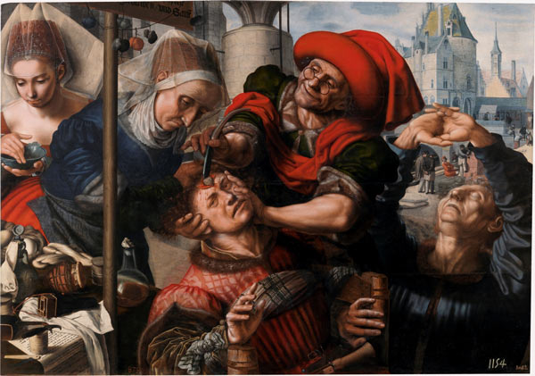 El cirujano o La extracción de la piedra de la locura. Jan Sanders van Hemessen