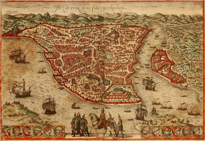 Mapa Constantinopla