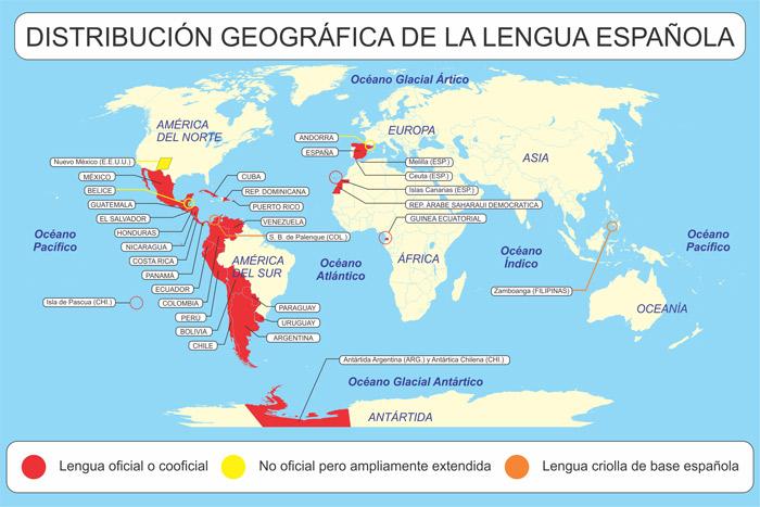 Mapa del español